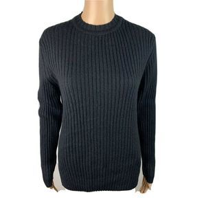 Adolfo Dominguez 6 Sweater Wool Blend Crew Ribbed
